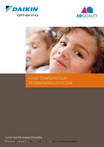HOGE TEMPERATUUR- VERWARMINGSSYSTEEM - Airquality.be