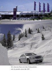 Kundeninformation Nr.14 - Autohaus Filser Gmbh