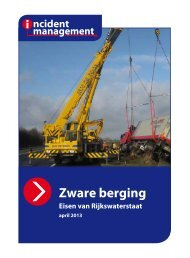 Richtlijn Zware Berging Eisen van Rijkswaterstaat - Incident ...