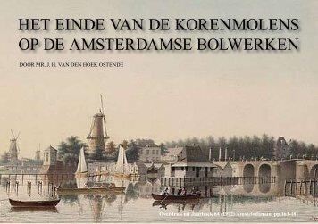 Het einde van de korenmolens op de bolwerken - theobakker.net