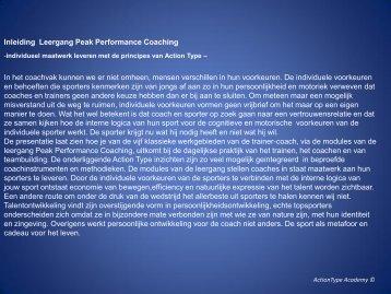 Opbouw onderwerpen ActionType