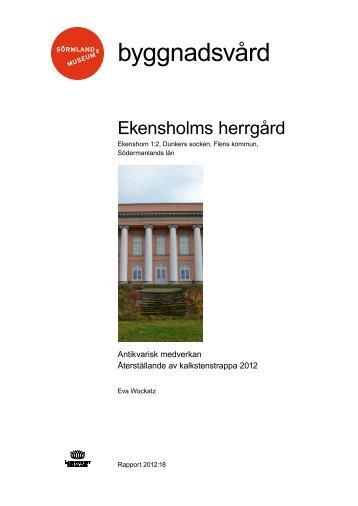Ekensholms herrgård - Sörmlands museum