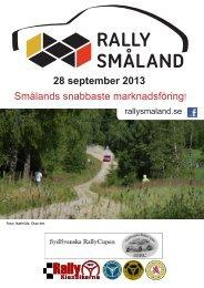 28 september 2013 Smålands snabbaste ... - Vetlanda RRC