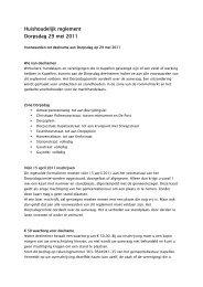 Huishoudelijk reglement Dorpsdag 29 mei 2011 - Gemeente Kapellen