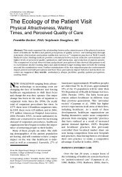 The Ecology of the Patient Visit - International Workspace Studies ...