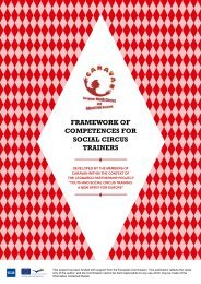 framework of competences for social circus trainers - CARAVAN