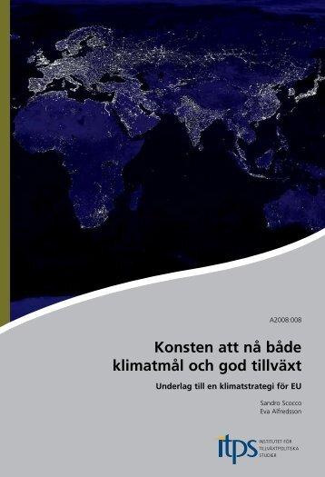 Konsten att nå både klimatmål och god tillväxt - Global Utmaning