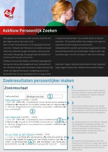 Zoekresultaten persoonlijker maken AskNow Persoonlijk Zoeken 1 2 ...