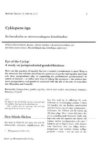 Håkan Gustafsson: Cyklopens öga - Retfaerd.org