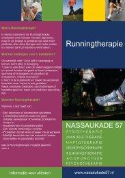 Folder Runningtherapie - Nassaukade 57