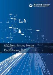 UTC Fire & Security Sverige Produktkatalog 2013