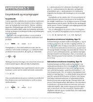 Appendiks 5: Enzymkinetik og enzymgrupper - Biokemibogen