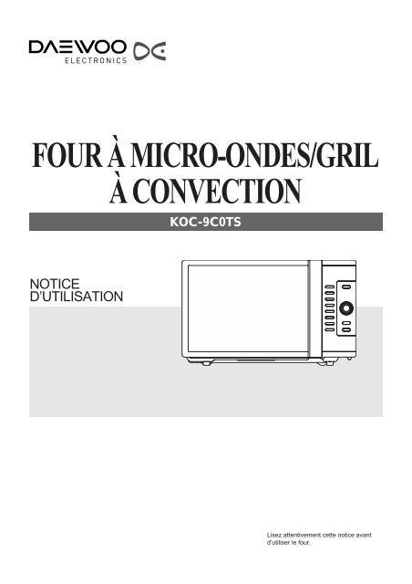 Four à Micro Ondes Gril à Convection Daewoo
