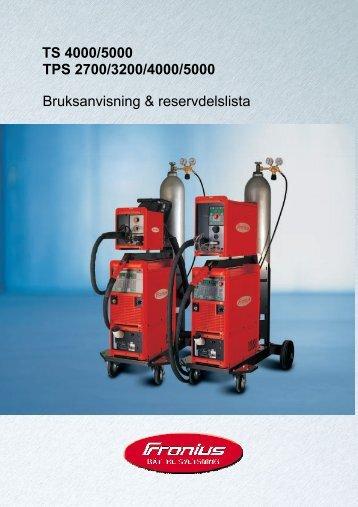 TPS 2700/3200/4000/5000 Bruksanvisning ... - Axson Teknik AB