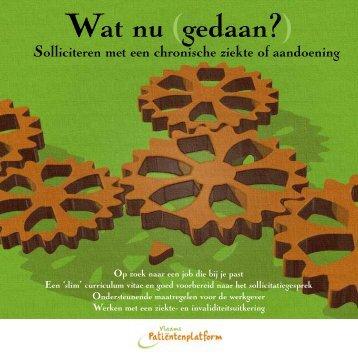 Wat nu (gedaan?) - Vlaams Patiëntenplatform