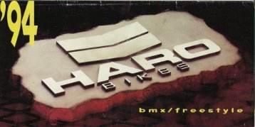 1994 Haro Product Catalogue - haro bmx collector