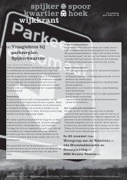 nummer 2 van 2008 - Spijkerkwartier/Spoorhoek