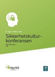 Sikkerhetskultur- konferansen - NorSIS
