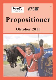 Oktober 2011 - Svensk Travsport