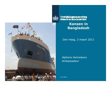 Kansen in B l d h Bangladesh - The Netherlands Embassy in Dhaka ...