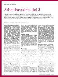 Arbeidsavtalen, del 2 (NFT 11/2011) - Norges Farmaceutiske Forening