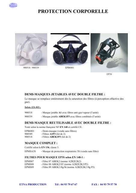 masque jetable nf