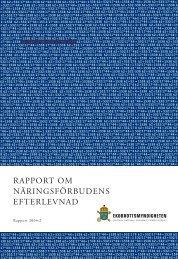 Rapport om näringsförbudens efterlevnad - Ekobrottsmyndigheten