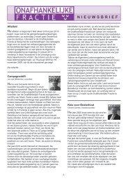 Nieuwsbrief 2010 - Onafhankelijke Fractie Oosterhout
