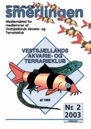 Feb. 2003 - Vestsjællands Akvarie- og Terrarieklub
