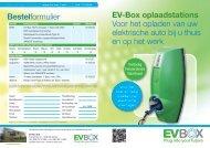 EvBox Flyer home charger auto laadstation - van Marum