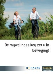 De mywellness key zet u in beweging! - De Haere