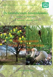 De Groenbewuste Amsterdammer IVN Amsterdam