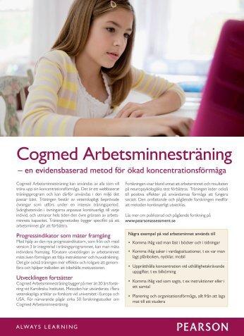 Läs mer om Cogmed Arbetsminnesträning - Pearson Assessment