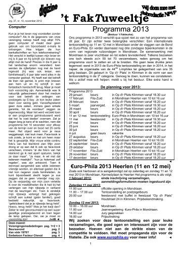 jrg. 37 nr. 10 nov. 2012 - Eerste Kerkraadse Philatelisten Vereniging