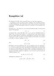 Introduktion til komplekse tal. - dirac