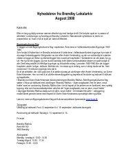 Nyhedsbrev fra Brøndby Lokalarkiv August 2008