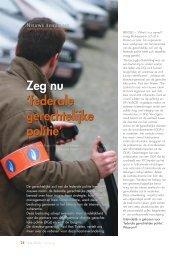 Documentatie: Inforevue artikel - Federale politie
