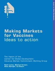 Making Markets for Vaccines: Ideas to action - Global Health ...