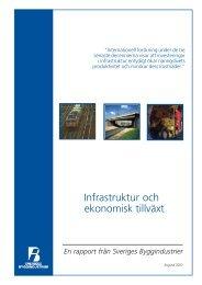 Infrastruktur och ekonomisk tillväxt - Publikationer från Sveriges ...