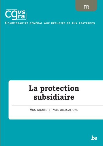 La protection subsidiaire