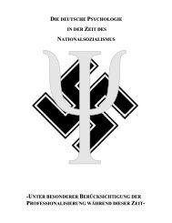 Psychologie im Nationalsozialismus - Lascap