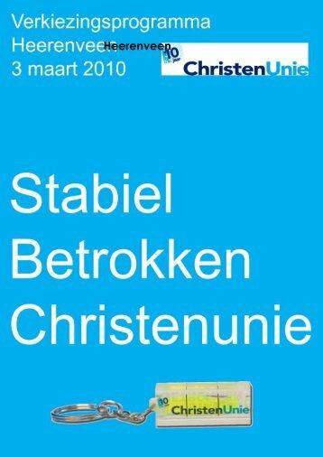 Verkiezingsprogramma 2010 bekijken - ChristenUnie Heerenveen