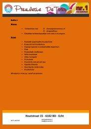 Buffet 1 Warm: • Varkenshaas met O champignonroomsaus of O ...