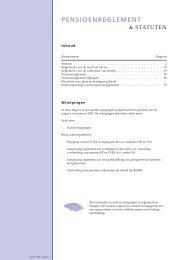 Statuten en reglementen 2001 - PFZW