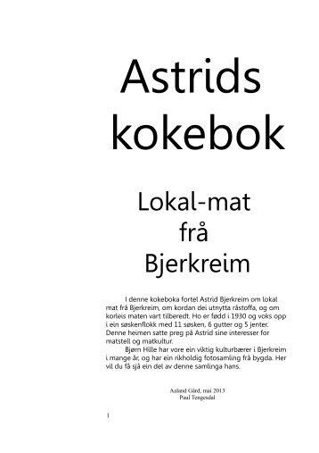 Astrids kokebok - Bjerkreim.info
