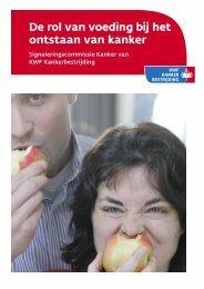 De rol van voeding bij het ontstaan van kanker - Repository - KWF ...