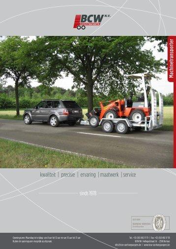 Folder machinetransporter - BCW aanhangwagens