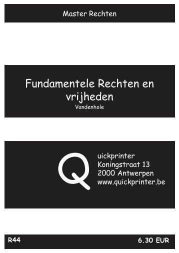Fundamentele Rechten en vrijheden - Quickprinter