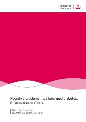 Kognitive problemer hos børn med diabetes - Diabetesforeningen