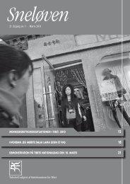 Sneløven 2011, 21. årgang nr. 1 (hent pdf) - Støttekomiteen for Tibet